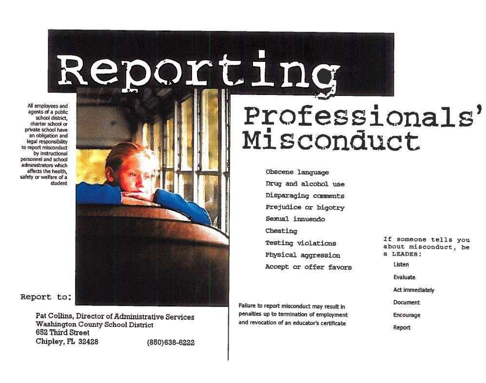 Reporting Professional Misconduct