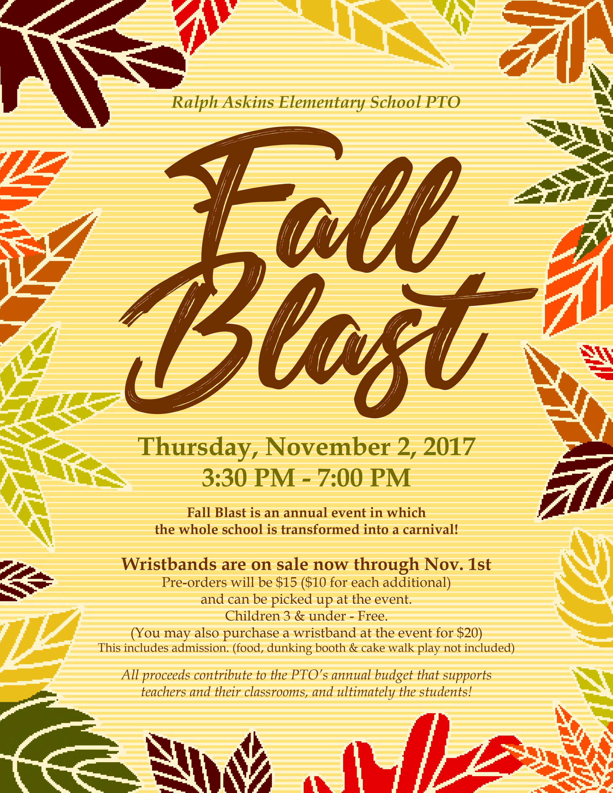 Fall Blast Flyer