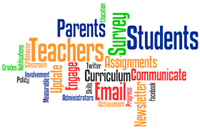 Picture of Words Associated with PTCC (Parent Teacher Community Connection)